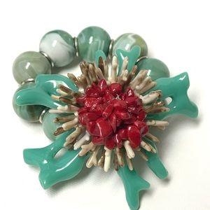 Jewelry - Large Nautical Coral Reef Costume Fashion Bracelet